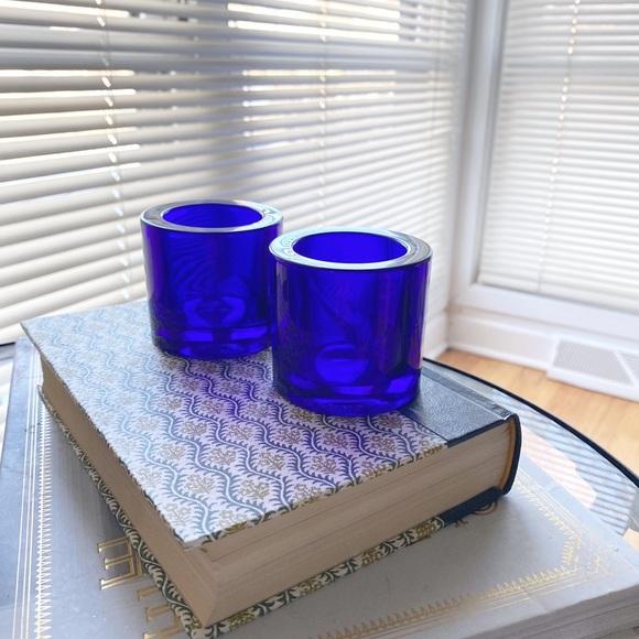 Marimekko Blue Cobalt Iittala Kivi Candle Holder